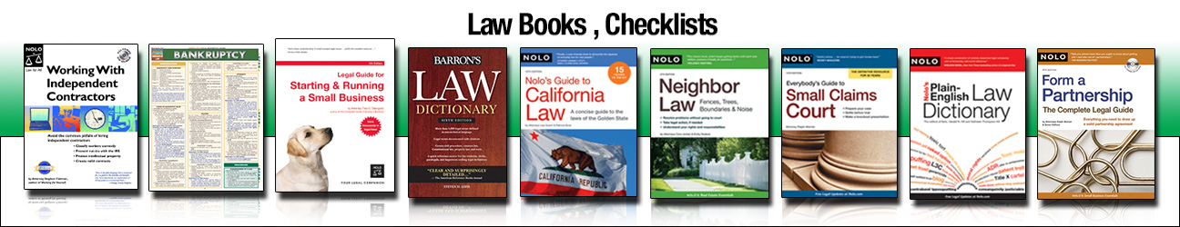 Law Books , Checklists