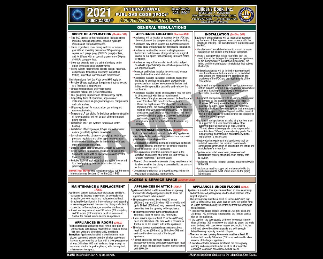 2021 International Fuel Gas Code