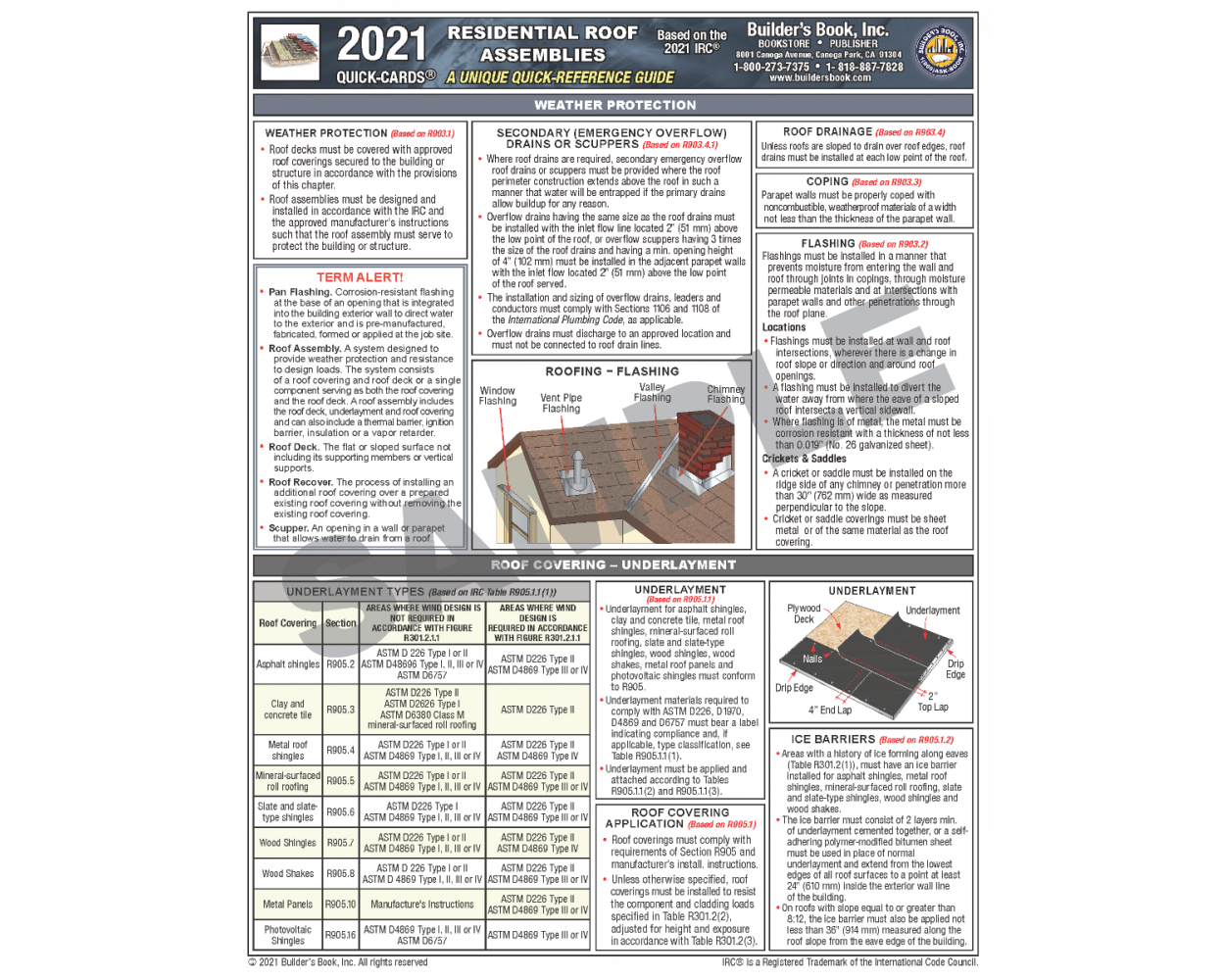 2021 Residential Roof Assemblies based on the IRC