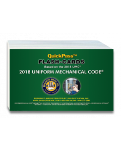 Uniform Mechanical Code QuickPass Flash-Cards based on the 2018 UMC