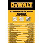 DEWALT Construction Math Quick Check