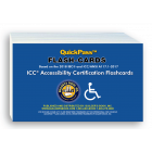 Accessibility Certification QuickPass Flash-Cards based on the 2018 International Building Code and the ICC/ANSI A117.1