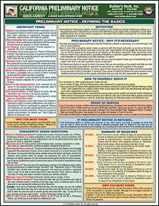 California Preliminary Notice - Private Works