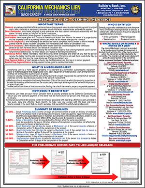California Mechanics Lien 2012